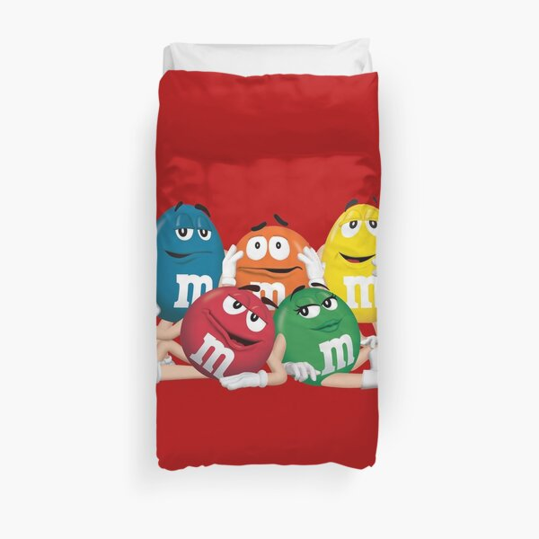 m&m chocolate characters Duvet Cover