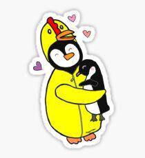 Penguin Hugs Sticker