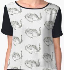 Jeweled Elephant Women's Chiffon Top