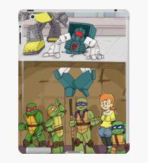 Tmnt and Transformers- crash landing iPad Case/Skin