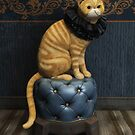 Cat with ruffled collar by Roberta Angiolani