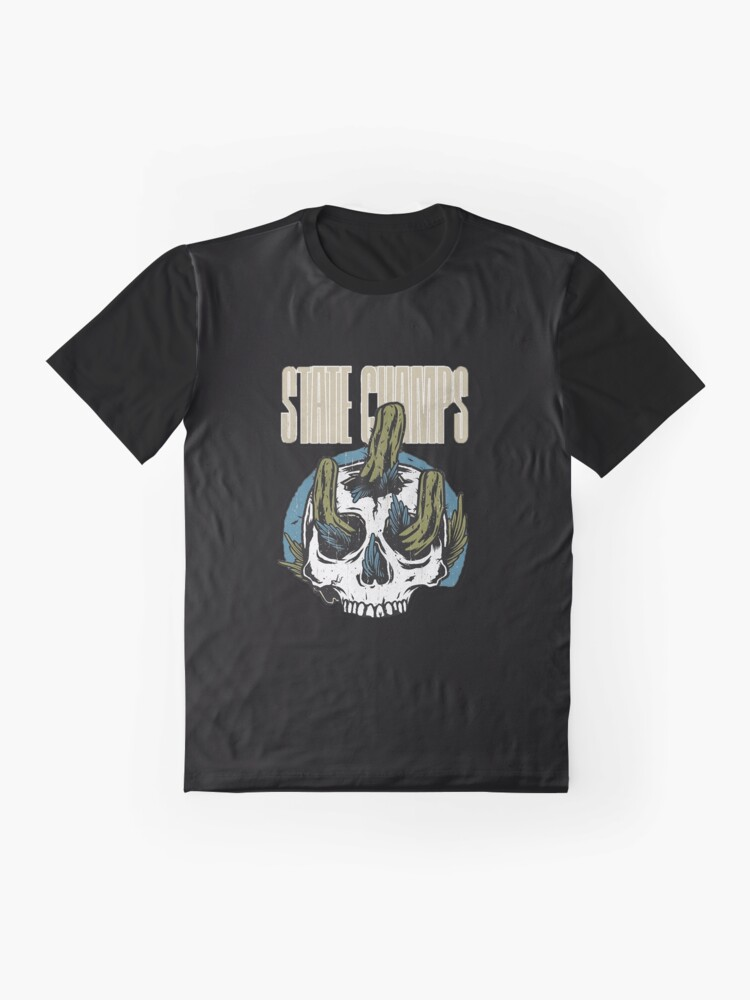 Alternate view of cactus from inside skull Graphic T-Shirt