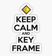 Keep Calm and Keyframe (Black Type) Sticker