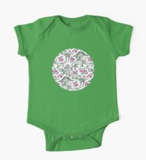 Dinosaurs and Roses – white Kids Clothes