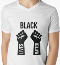 Black Lives Matter Men's V-Neck T-Shirt