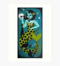 Mermaid Surprise Art Print