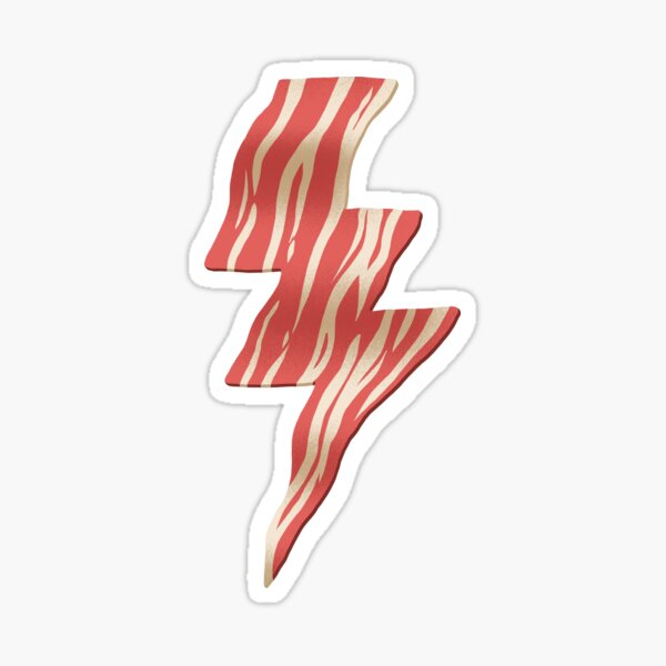 powered by bacon Sticker