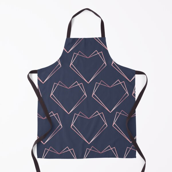 Navy and Rose Gold Geometric Shapes  Apron