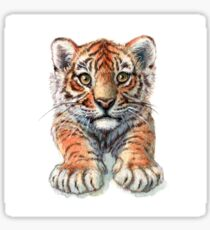 Playful Tiger Cub 907 Sticker
