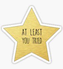 """Gold Star """"Sie versuchten"""" Aufkleber und mehr Sticker"""