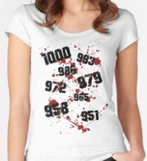 1000 minus 7 Tokyo Ghoul Women's Fitted Scoop T-Shirt