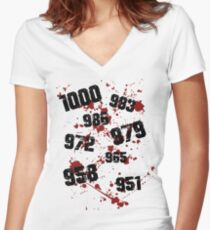 1000 minus 7 Tokyo Ghoul Women's Fitted V-Neck T-Shirt