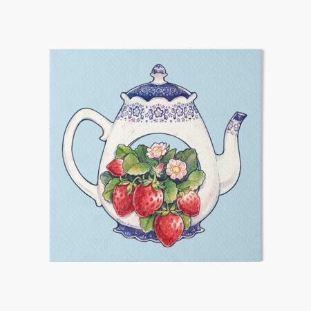 Théière à la fraise Impression rigide