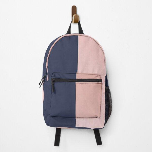 Navy and Rose Gold Vertical Stripes Backpack