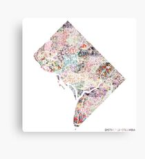 District of Columbia map Canvas Print