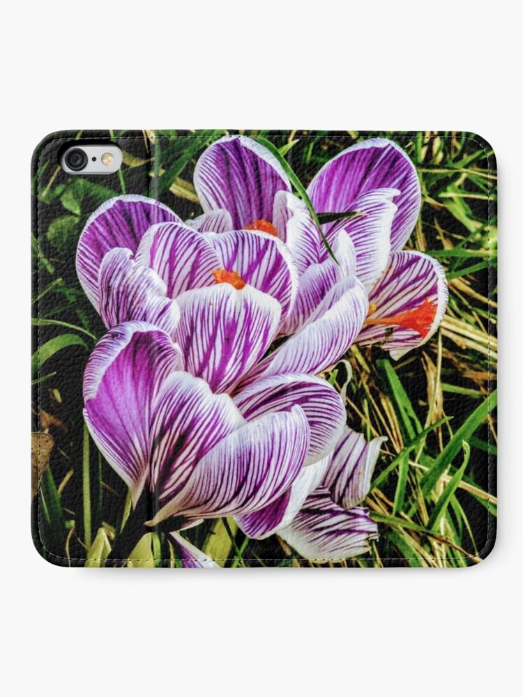 Alternate view of Flowers iPhone Wallet