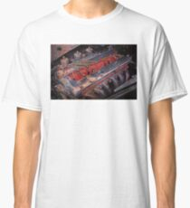 Retro urban auto engine. Classic T-Shirt
