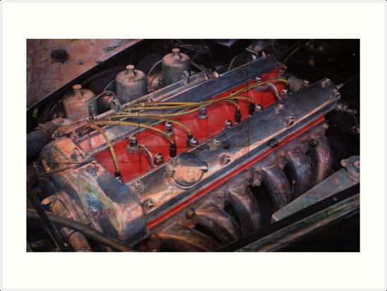 Retro urban auto engine. by doorfrontphotos