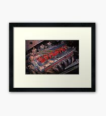 Retro urban auto engine. Framed Print
