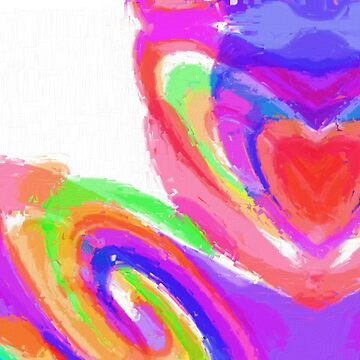 Vivid Abstract with Love Heart by sfcount