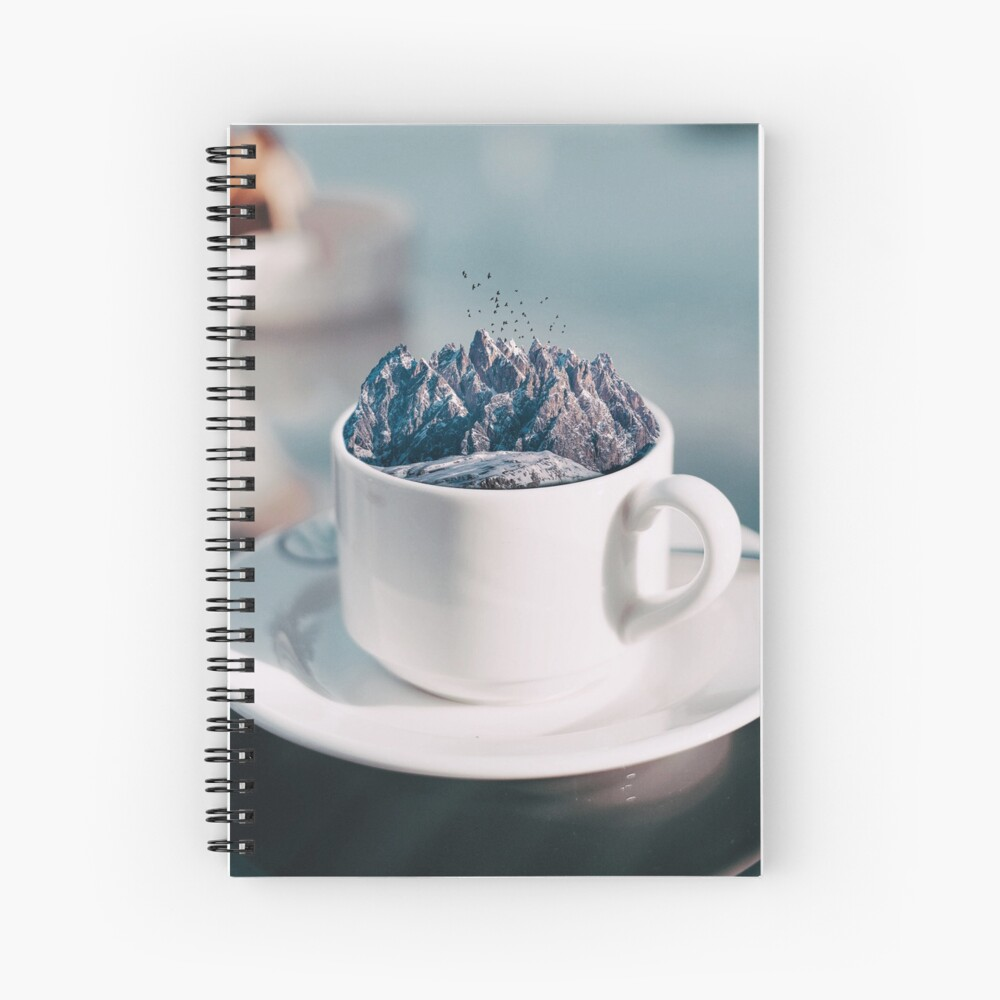 Cup of Breathtaking Spiral Notebook