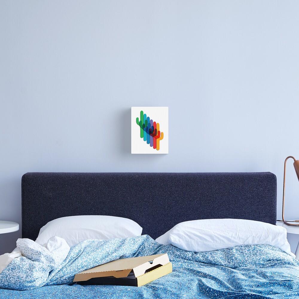 Cactus Overlay Canvas Print