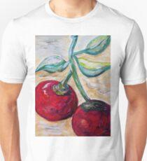 Cherries on White Chocolate Unisex T-Shirt