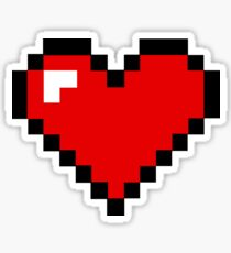 8-Bit Heart Sticker