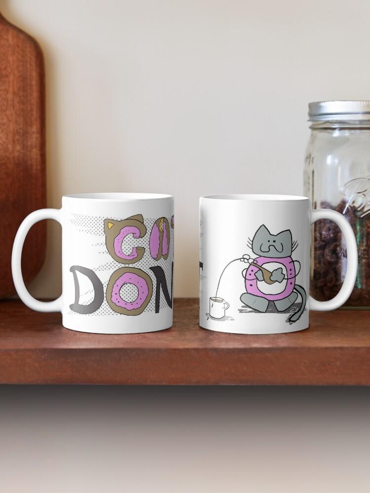 Alternate view of Cat Donut Mug Mug