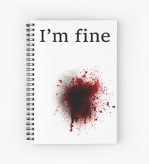 Bullet Shot, I am Fine Spiral Notebook