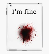 Bullet Shot, I am Fine iPad Case/Skin