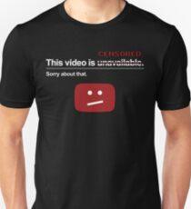"""""""Dieses Video ist nicht verfügbar"""" (zensiert) Slim Fit T-Shirt"""