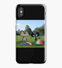 Cats With Colorful Kites iPhone Case