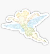 Tinkerbell Word Art Sticker