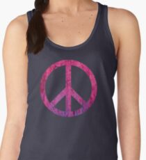 Peace Sign - Grunge Texture with Scratches Women's Tank Top