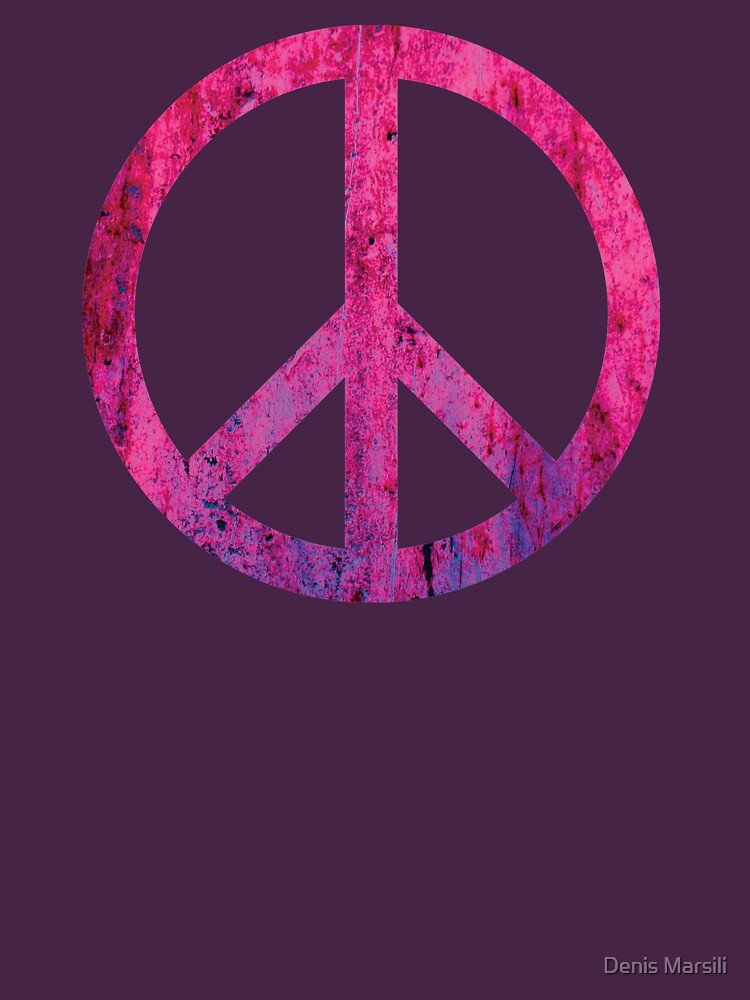 Peace Sign - Grunge Texture with Scratches by ddtk