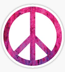 Peace Sign - Grunge Texture with Scratches Sticker