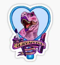 Glamasaurus (white/plain) Sticker