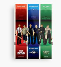 The Cornetto Trilogy. Metal Print
