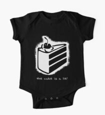 the cake is a lie! One Piece - Short Sleeve