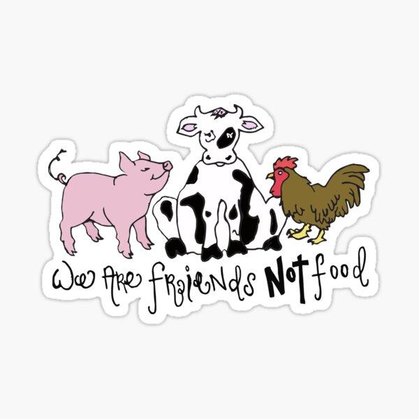 Friends not Food! Sticker