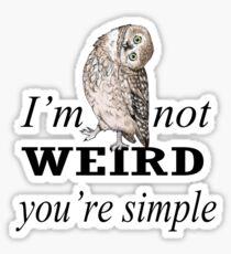 Weird Owl Sticker