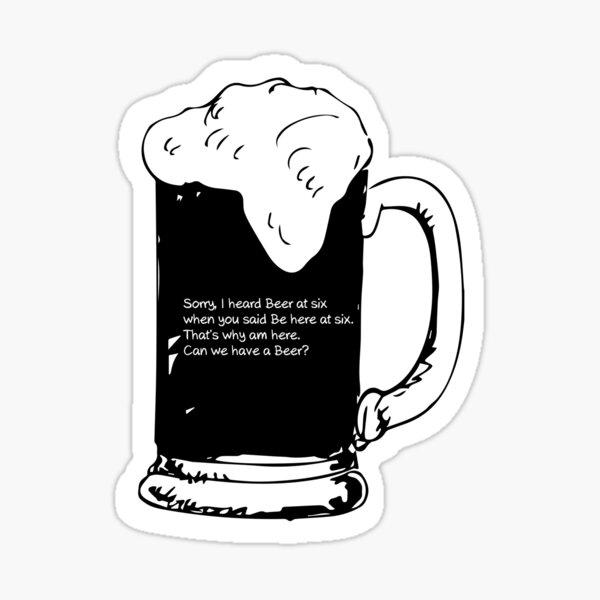 Sorry Beer Sticker
