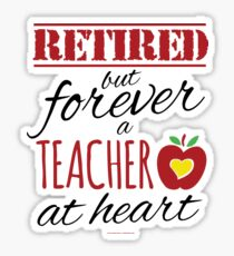 Retired Teacher Sticker