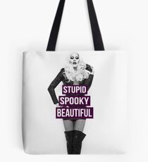 Supid, Spooky and Beautiful Purple Tote Bag