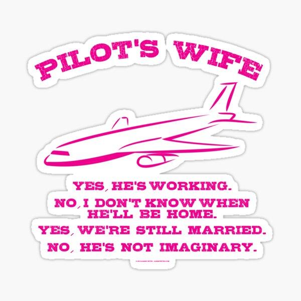 Pilot's Wife Sticker