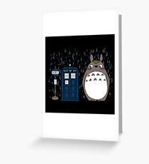 Totoro rain Greeting Card