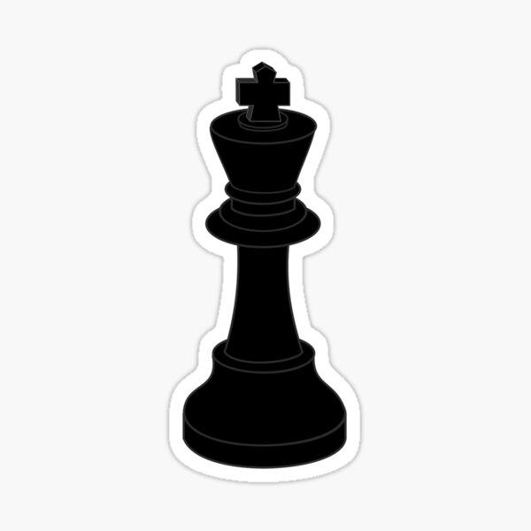 Chess King Icon Sticker