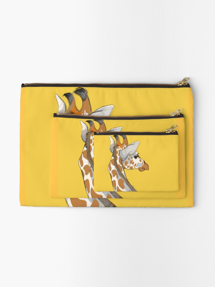 Alternate view of Giraffe Zipper Pouch