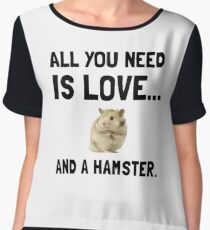 Love And A Hamster Women's Chiffon Top